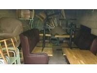 Cafe shop club sofa bar must go furniture equipment for sale !