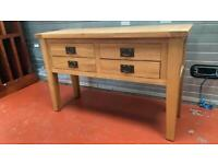 Solid Oak console Table / Hall unit