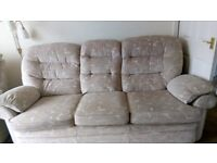 3 seater, 2 seater and 1 chair for sale