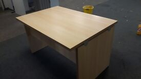 1200 mm beech office desks ideal for new office fit out