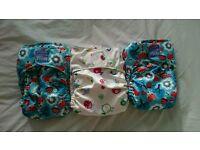 3 Reusable nappies - Miosolo