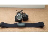 Garmin forerunner 405 fitness watch with charger and HR chest strap