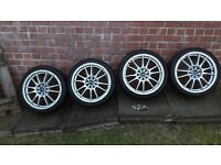 Multi fit Alloy wheels with locking nuts