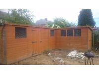 Joiner built shed