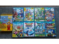 wii u with lots of top games