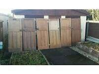 """Original 1930's solid wood 4 panel doors -2'9"""" 2'6"""" Edwardian, Retro, Reclaimed, Wooden"""