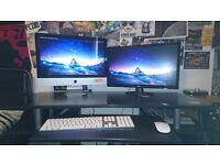 iMac (21.5', 8gb Ram, 500gb storage) WITH EXTRA SCREEN!!! Plus Logic, Final cut etc.