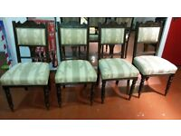 Four dinning room chairs retro style