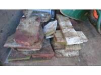 Indian sandstone offcut slabs