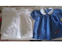 Two stunning vintage baby dresses