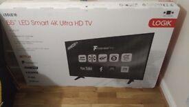 Brand New - LOGIK L55UE18 55 inch Smart 4K Ultra HD TV