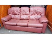 G PLAN leather 3 piece suite. FREE delivery in Derby