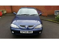 Hi i have renault megane 1.4 car great running car in great clean condition for only 600 pounds