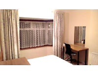 Large double room with it's own toilet and bathroom