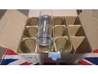 """Jack Daniel's 9x Tennessee Honey 6"""" 35cl/11.9oz Glasses H&S 0846 CE M15"""