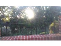 brand new black garden iron fence railing (W)114cm X (H) 50cm north london N20