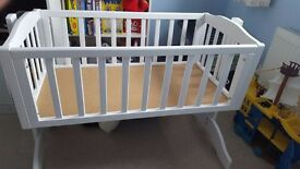 Baby crib in excellent condition.Used for only 2 months. Pet free, smoke free home.Mattress not inc.