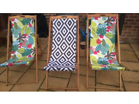3 deck chairs, bought from ASDA last year
