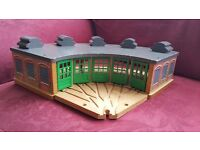 Wooden Tydmouth Sheds from Thomas the tank Engine original BRIO railway