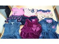 Baby Girl clothes 18-24months . 5 dresses and 3 t shirts
