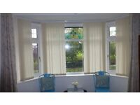Vertical Window Blinds Cream Colour Less Than 18 months old