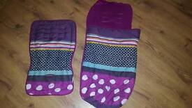 Mamas and papas seat liner and cosy toes