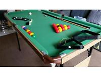 Snooker Pool table with Cues and accessories