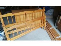 King-size Pine Bed Frame
