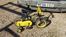 Apollo Stinger 12 inch wheel single speed childs bike