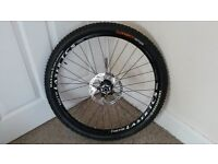 Hope Pro 2 Evo front wheel, with WTB Laser TCS Trail rim and Maxxis High Roller tyre - 26 inch