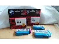 HP 364 Ink Cartridges (new unopened)