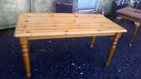 Lovely Solid pine rectangular dining table