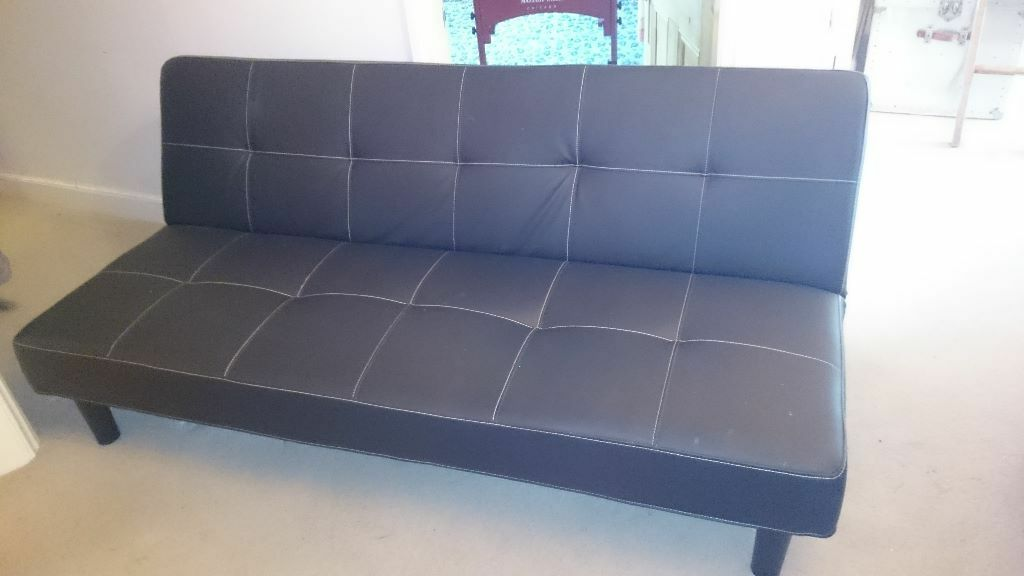 Seconhhand black double sofa bed collection only from for Black double divan bed