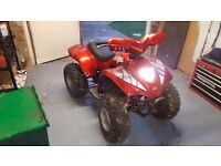 Apache 100cc quad starts and runs electric start dont work but kick start does may need a carb clean