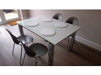 """Calligaris Runway Table and 10 """"Basil"""" chairs"""