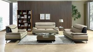 LORD SELKIRK FURNITURE - Sasha 3Pc Couch Set - Sofa, Loveseat and Chair - Beige & Brown - $1599.00