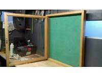 Display cases , notice boards