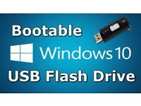 Windows 10 32 /64 bit Re-Install, Repair, 16GB USB Flash Drive (NO PRODUCT KEY)