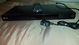 LG DVD Player with remote control.