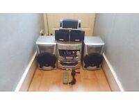 JVC Model No. SP-MXJ77 120W Shelf Stereo System with 3-CD Change