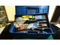 Various Hand Tools Tool Box Spanners Screwdrivers Ultrasonic Measure