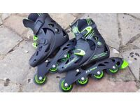 Wired Flash Roller Blades - adjustable size 13-3