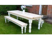 6ft Country Shabby Chic Farmhouse Dining Table