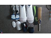 Cricket Equiptment bat pads stumps
