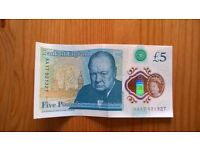 AA Series New Five Pound Note