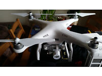 DJI Phantom 3 Advanced with alloy case and original box in mint condition, car charger, accesorries
