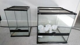 2 Vivariums/ Exo-Terrariums (Various Sizes) Snake, Lizard, Spider Tank.