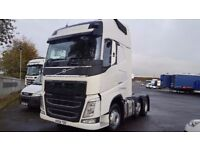 2014-64 volvo v4 fh500 xl globetrotter 6x2 midlift ishift leather fridge low klms plus vat