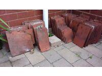 Terracotta Roof Tiles. Used. Varioius Sizes.
