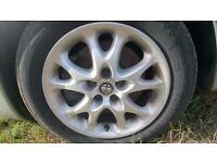 Alfa Romeo Alloy Wheels - Decent Tyres 195/60/R15 - Measurements in Desc